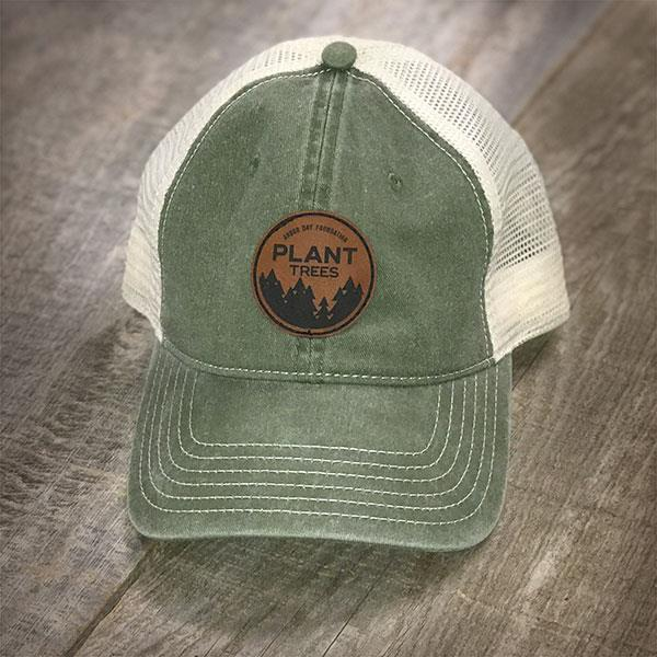 Plant Trees Leather Patch Hat-Olive